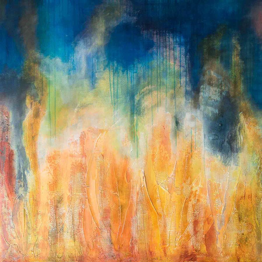 Feuer und Wasser 100x100cm