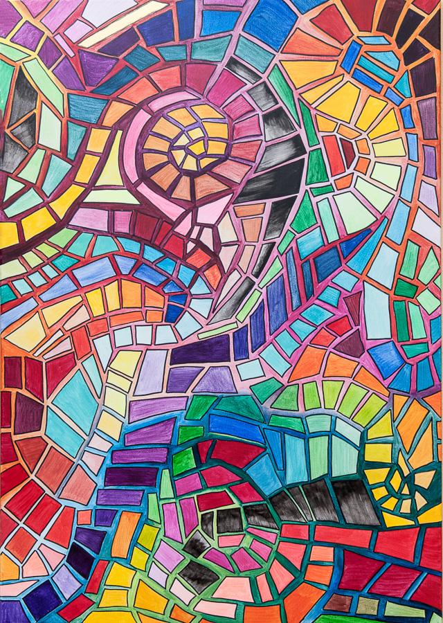 Labyrinth der Farben 70x100cm