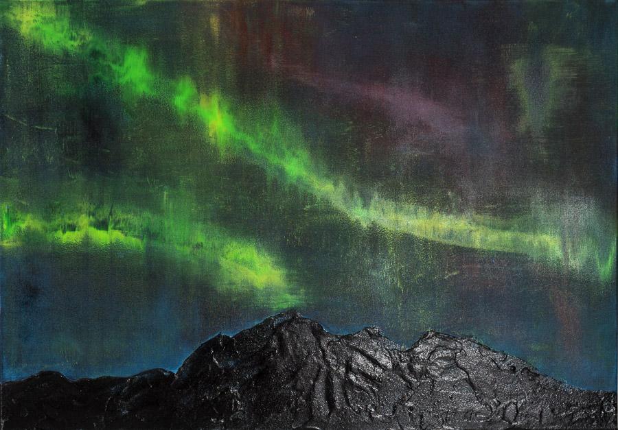 Licht über Island 100x70cm