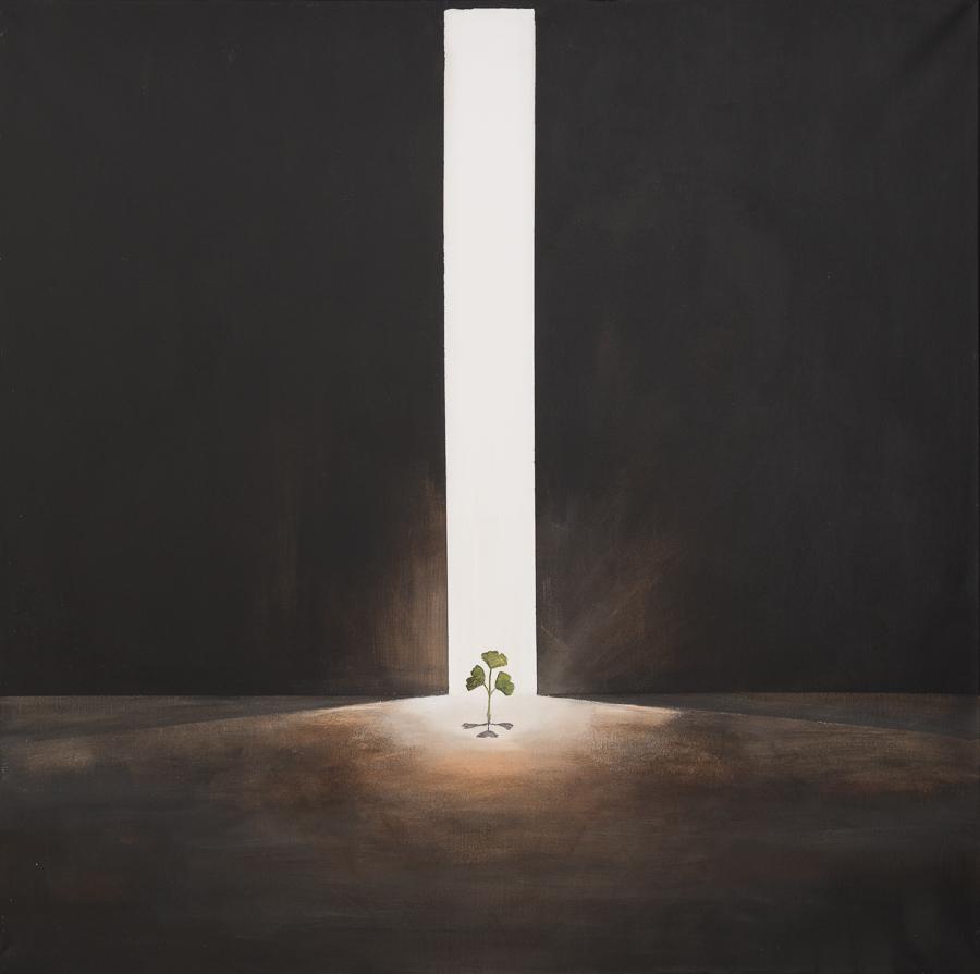 Licht ist Leben 100x100cm
