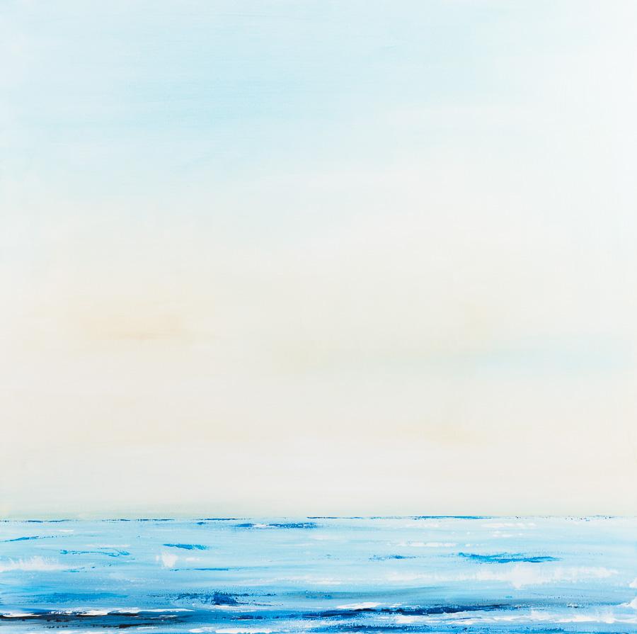 Sommermorgen am Meer 80x80cm