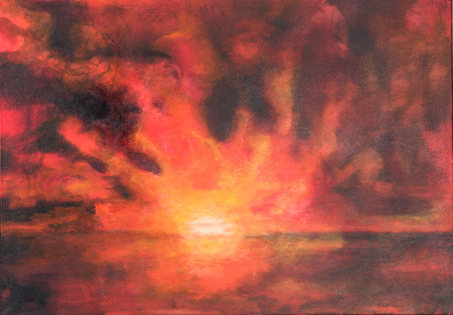 die Farben der Sonne 100x70cm