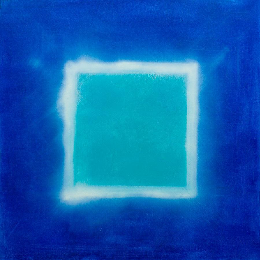Blaues Quadrat   70x70cm