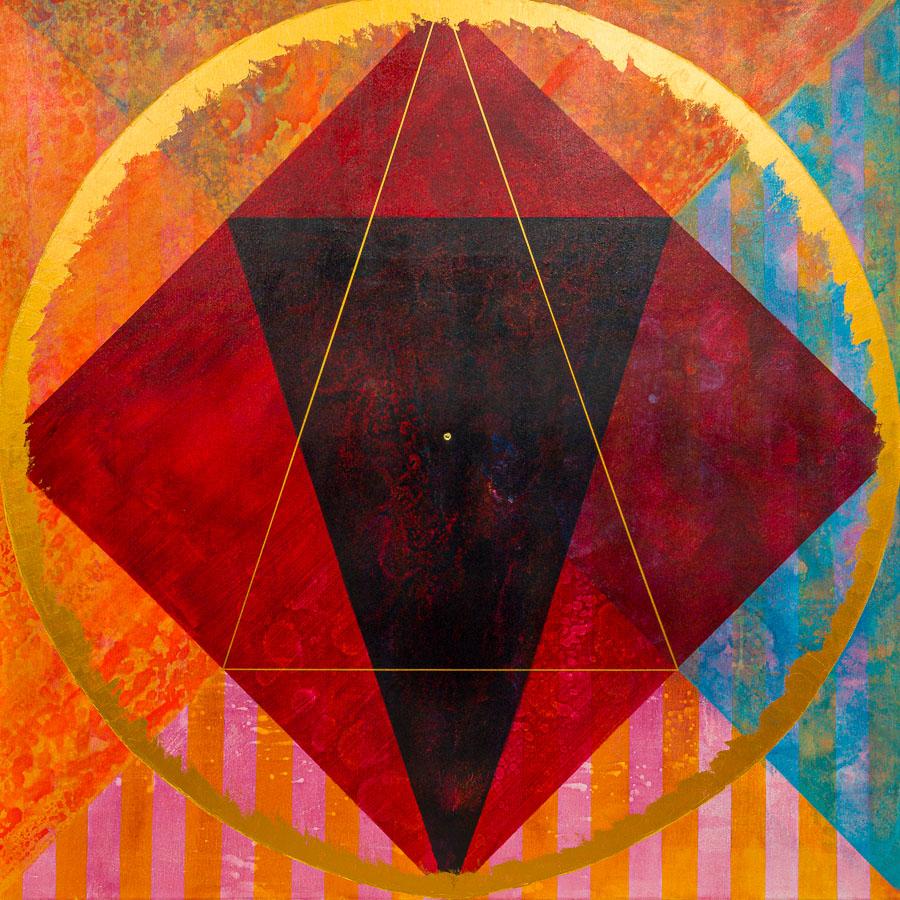 Im goldenen Dreieck   100x100cm